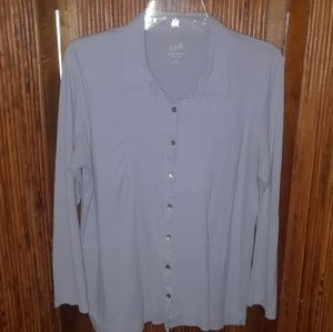 J.Jill blue button down top